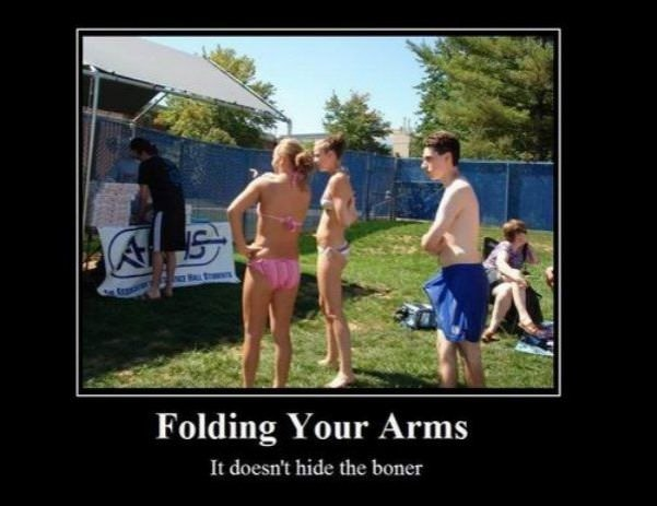folded arms