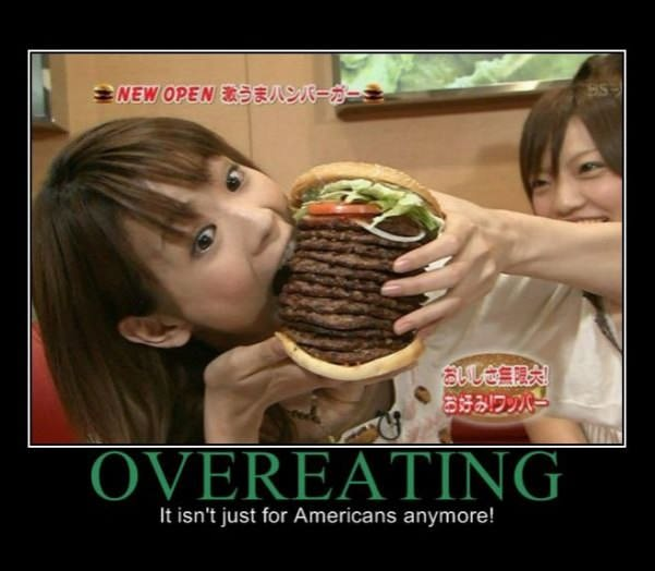 over eating