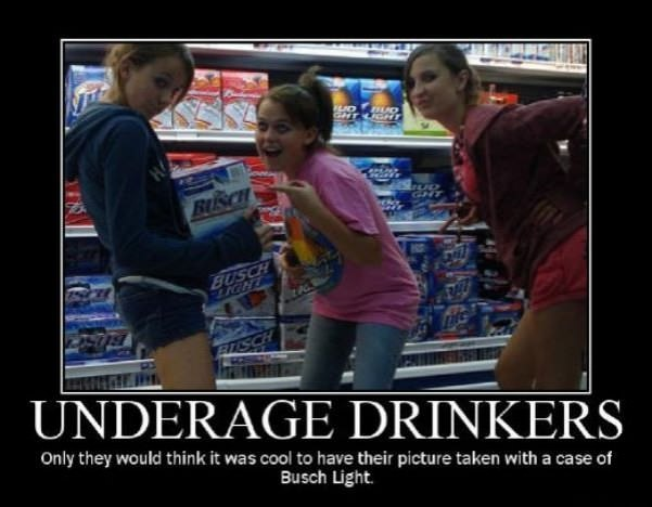 underaged drinkers